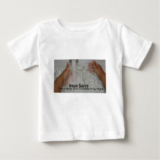 Jesus In Water With Two Thumbs Up Church Promotion Baby T-Shirt