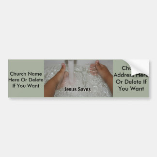 Jesus In Water With Two Thumbs Up Church Promotion Bumper Sticker