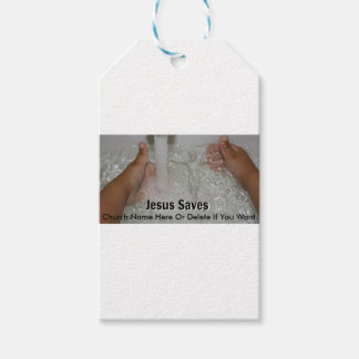 Jesus In Water With Two Thumbs Up Church Promotion Gift Tags