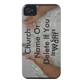 Jesus In Water With Two Thumbs Up Church Promotion iPhone 4 Cover