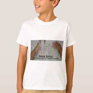 Jesus In Water With Two Thumbs Up Church Promotion T-Shirt
