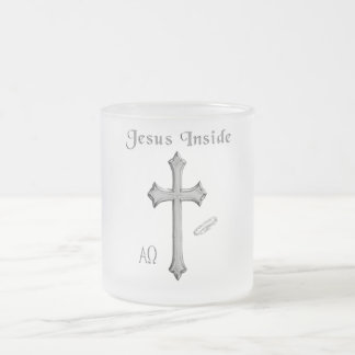 Jesus Inside Frosted Glass Coffee Mug