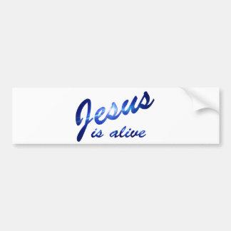 Jesus is alive Bleu électrique Bumper Sticker