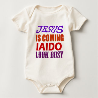 JESUS IS COMING IAIDO LOOK BUSY BABY BODYSUIT