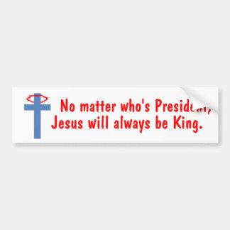 Jesus is King Bumper Sticker