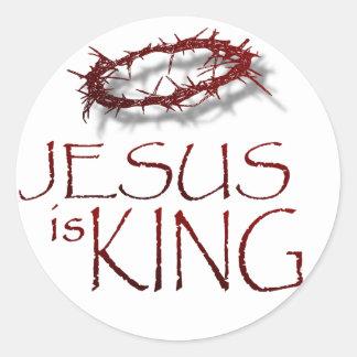Jesus is KING Classic Round Sticker
