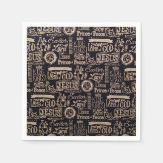 """""""Jesus Is King of Kings"""" Paper Napkins"""