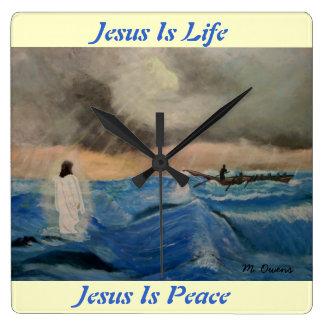 Jesus Is Life...Jesus Is Peace Wall Clock