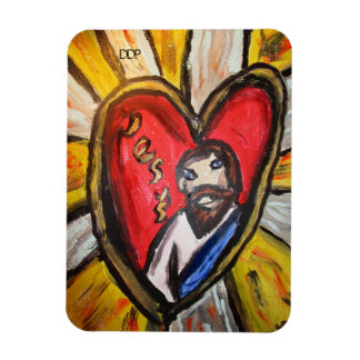 jesus is light shine rectangular photo magnet