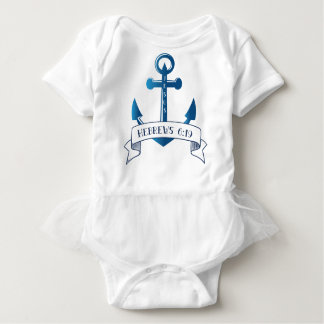 Jesus is my Anchor Bible Verse Typography Baby Bodysuit