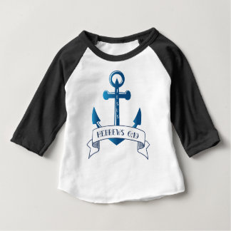 Jesus is my Anchor Bible Verse Typography Baby T-Shirt
