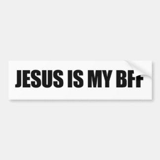 Jesus Is My BFF Bumper Sticker