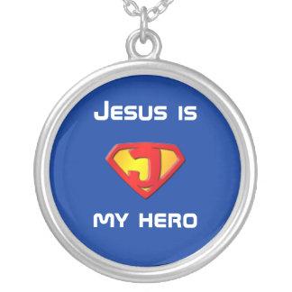 Jesus is my hero necklace