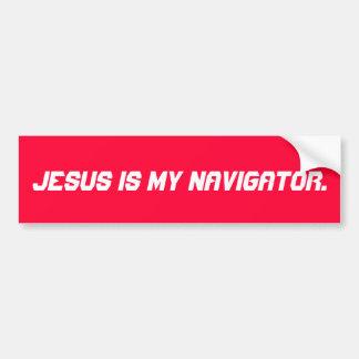 Jesus is my Navigator Bumper Sticker