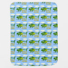 Jesus Is My Pilot (Green and Yellow Helicopters) Baby Blanket