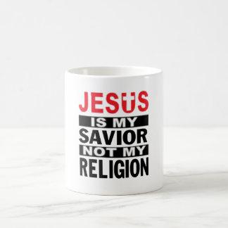 Jesus Is My Savior Not My Religion Coffee Mug