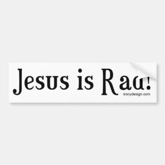 Jesus is Rad! Bumper Sticker
