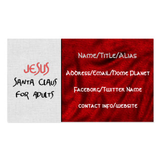 Jesus Is Santa For Adults Business Card