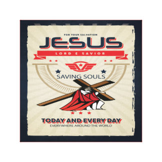 Jesus Is Saving Souls Christian Wall Canvas