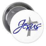 Jesus is the Answer Pinback Button
