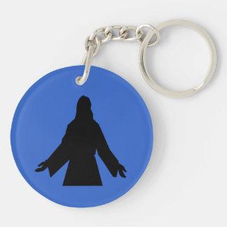 Jesus Is the Key Rouind Key Chain Round Acrylic Keychains