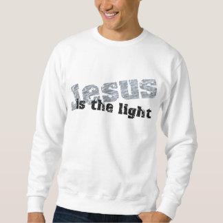 Jesus is the light 2 Effet gris noir Sweatshirt