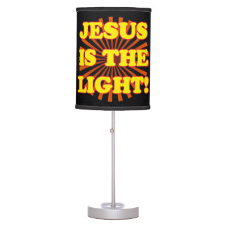Jesus Is The Light! Table Lamp