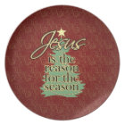 Jesus is the Reason Christian Christmas Plate