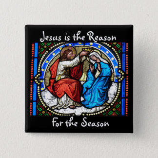 Jesus is the Reason Christmas Button
