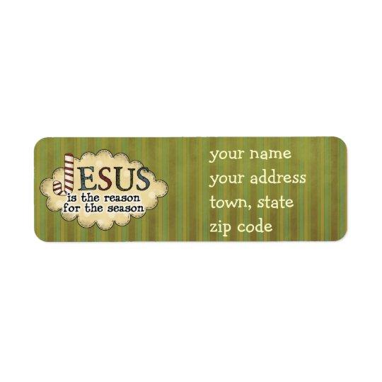 Jesus is the reason Christmas Return Address Label