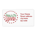 Jesus is the Reason for Christmas Season Labels