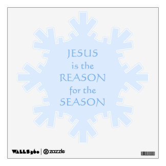 JESUS IS THE REASON FOR SEASON INSPIRATIONAL WALL STICKER