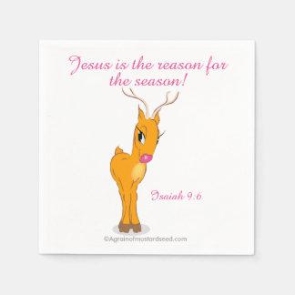 Jesus is the reason for the season Christmas Disposable Napkin