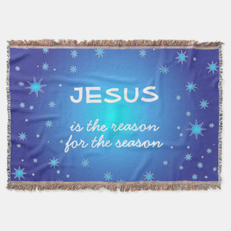 Jesus is the reason for the Season Christmas Throw Blanket