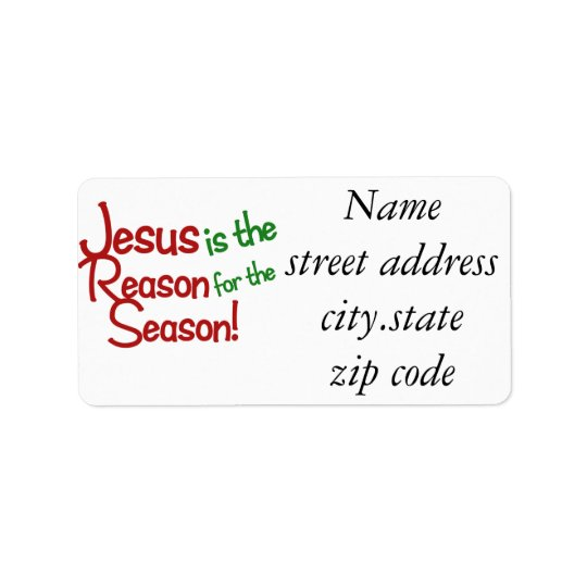 Jesus is the reason for the season label