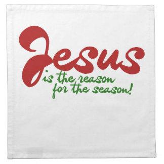 Jesus is the reason for the season printed napkins