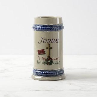 Jesus is the Reason for the Season Stein Mug