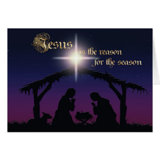 Jesus is the reason Nativity Scene Christmas Card
