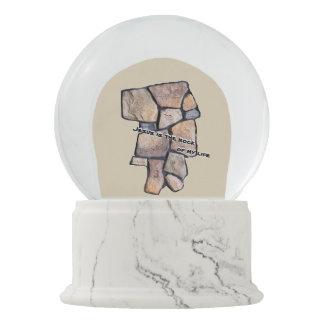 JESUS is the rock of my life Snow Globe