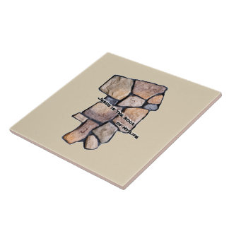 JESUS is the rock of my life Tile
