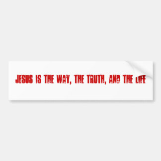 Jesus is The Way, The Truth, and The Life Bumper Sticker