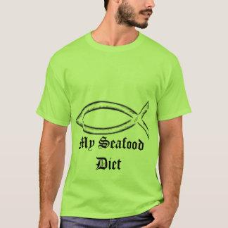 Jesus, Jesus Fish,  My Seafood Diet T-Shirt