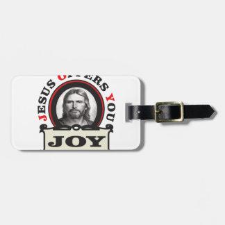 jesus joy yeah luggage tag