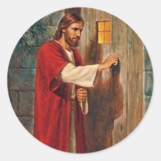 Jesus Knocks On The Door Classic Round Sticker