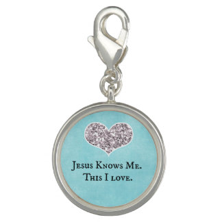 Jesus Knows Me, this I Love Quote Photo Charm