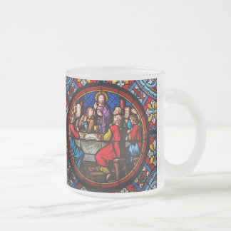 Jesus last meal with his disciples frosted glass coffee mug