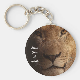 Jesus Lion of Judah Inspirational Christian Quote Basic Round Button Keychain