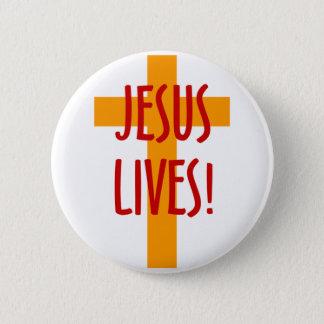 JESUS LIVES 2 INCH ROUND BUTTON
