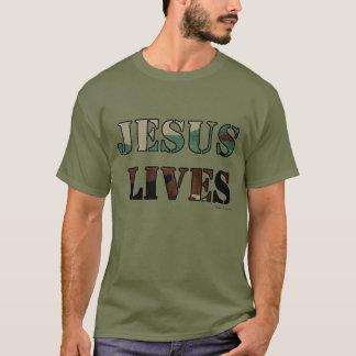 Jesus Lives - Army/Fatigue Green T-Shirt