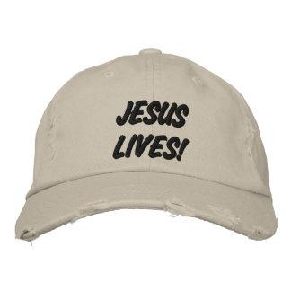 JESUS LIVES! EMBROIDERED HAT